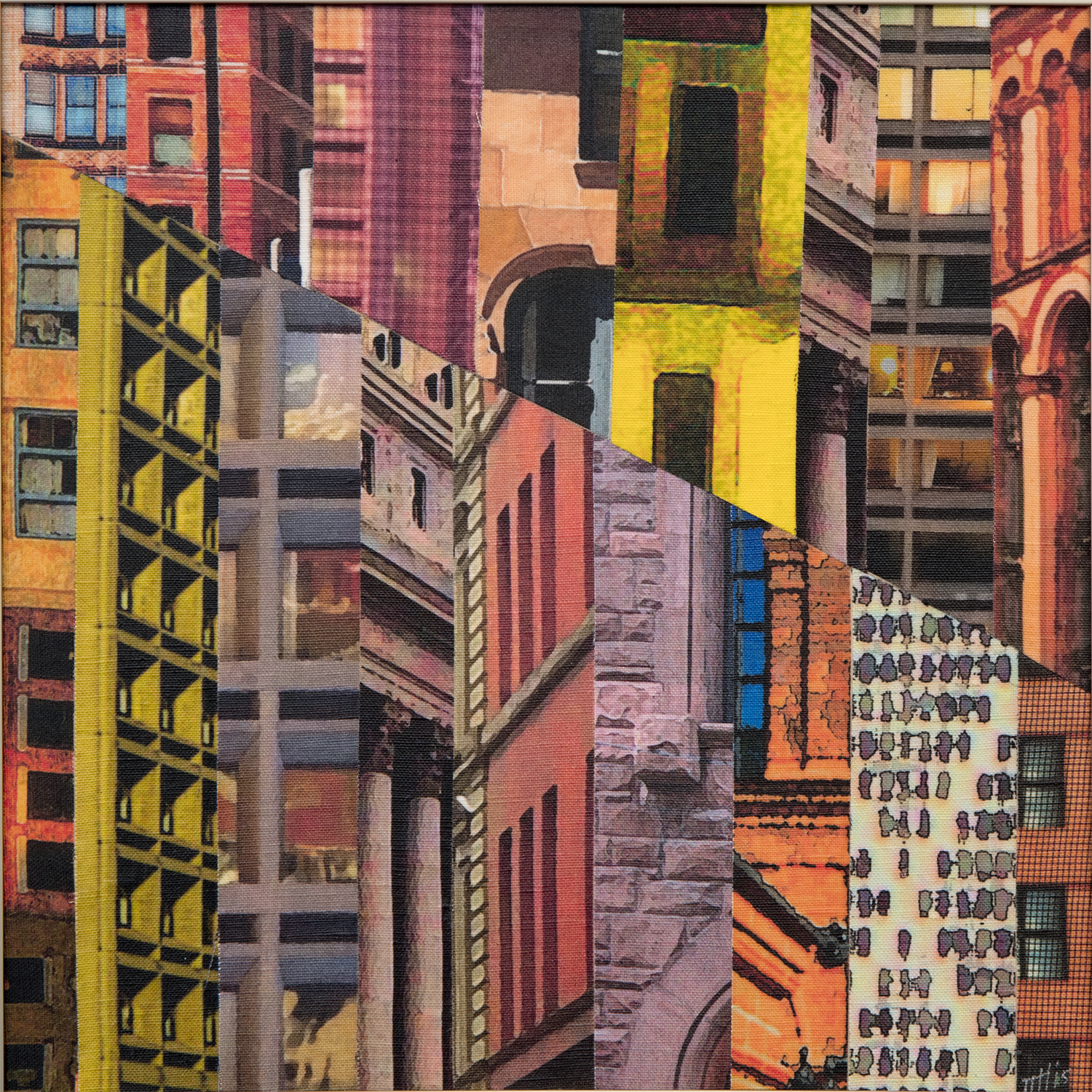patchwork city collage series