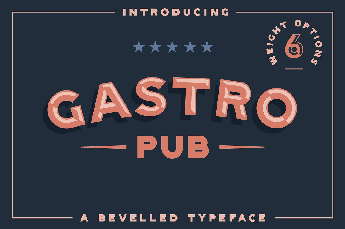 Gastro Pub - Bevelled Typeface