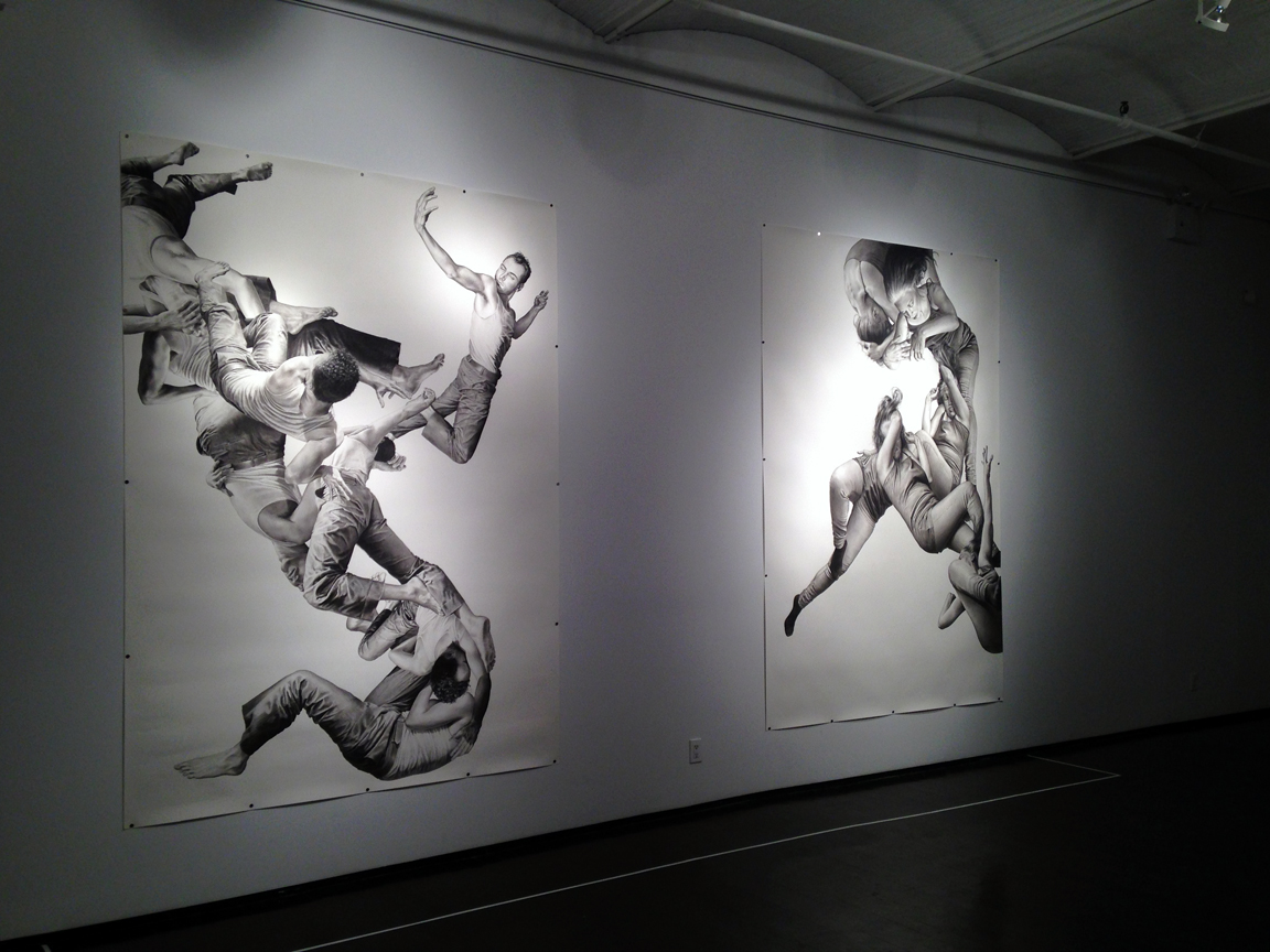 I enjoyed the lighting used to display the work as well.