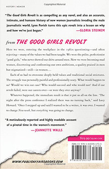 The back cover layout for  The Good Girls Revolt .