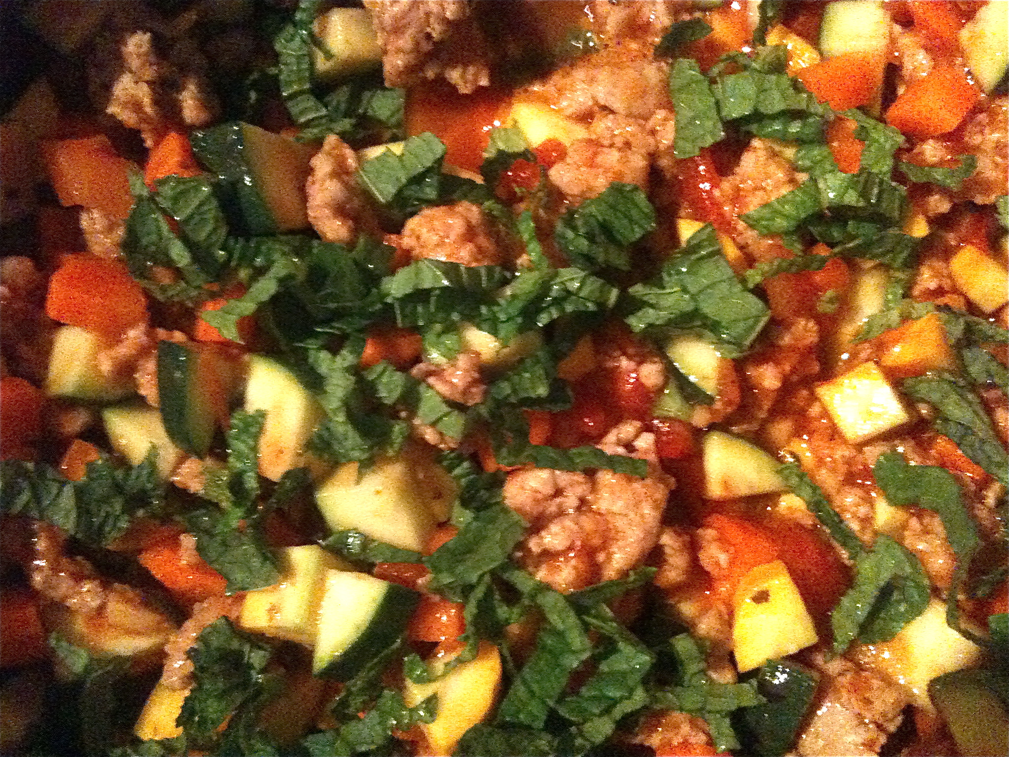 a quick week-day ragu with fresh mint...