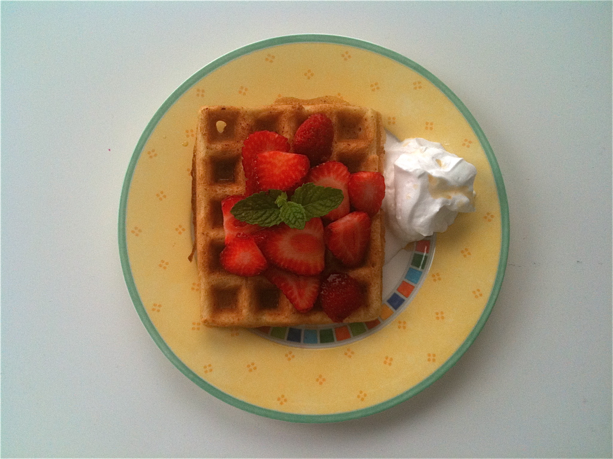 Sunday morning GF waffles for the fresh strawberries...