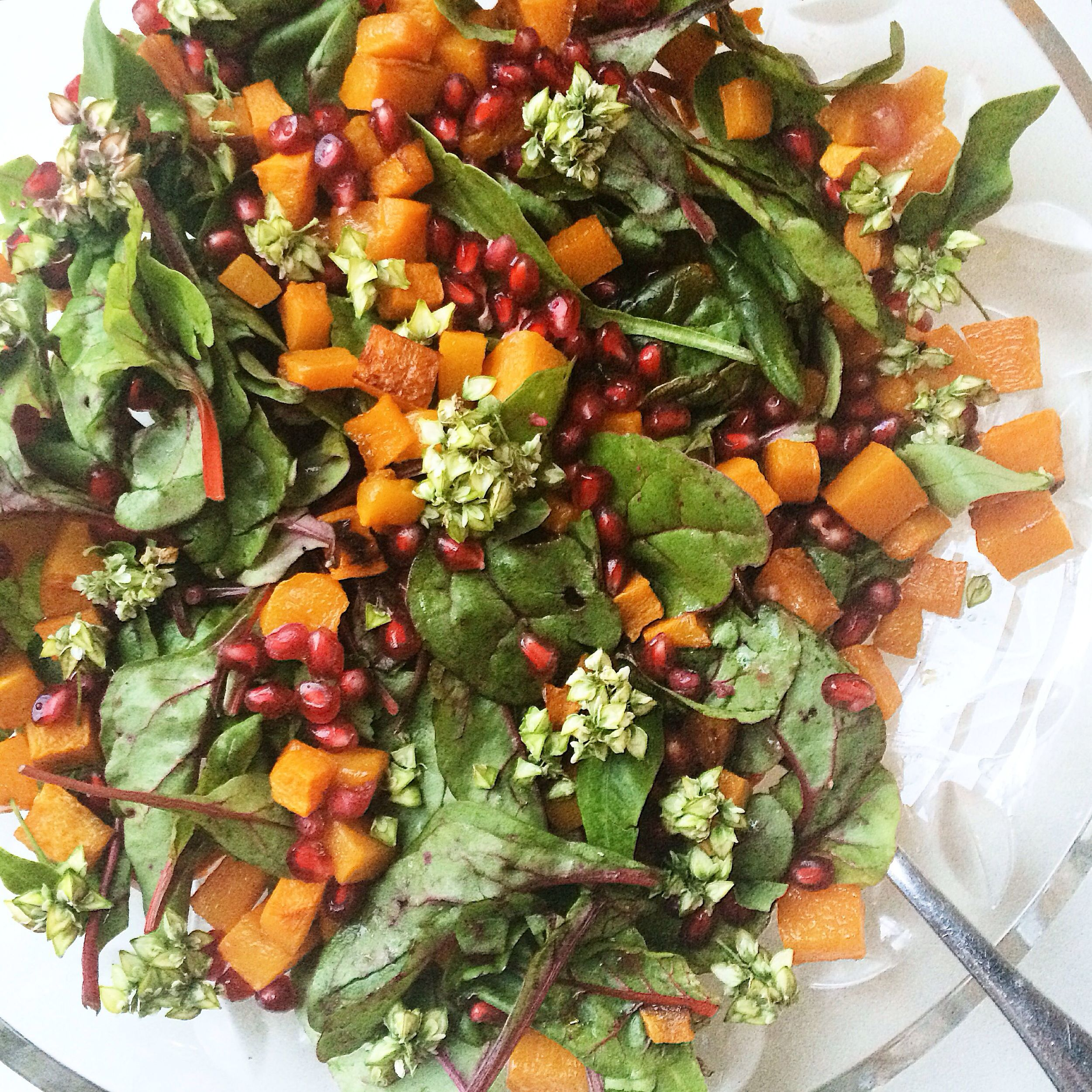 Roasted butternut squash salad Inspired by Edible SF