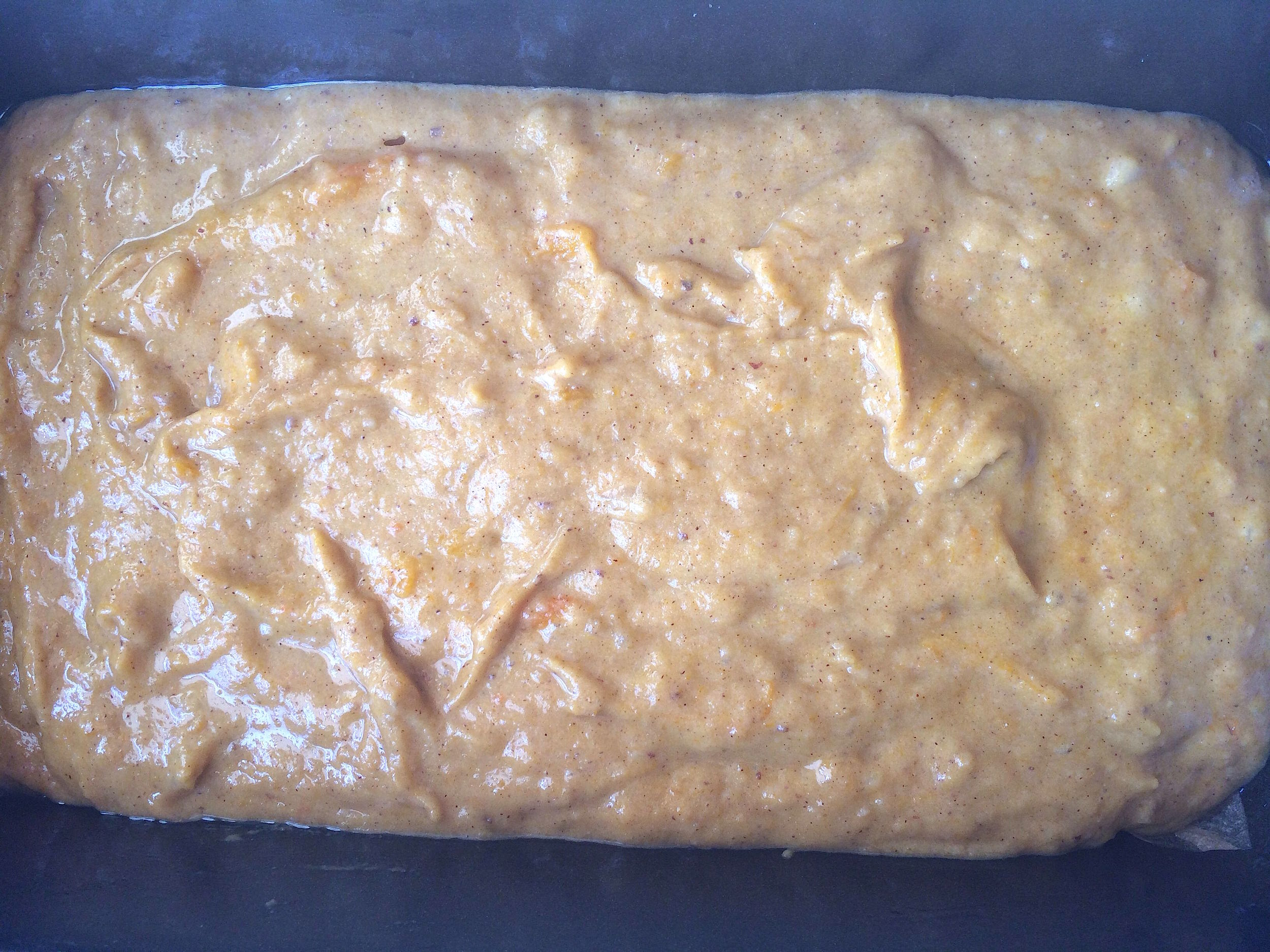 Autumn harvest bread batter