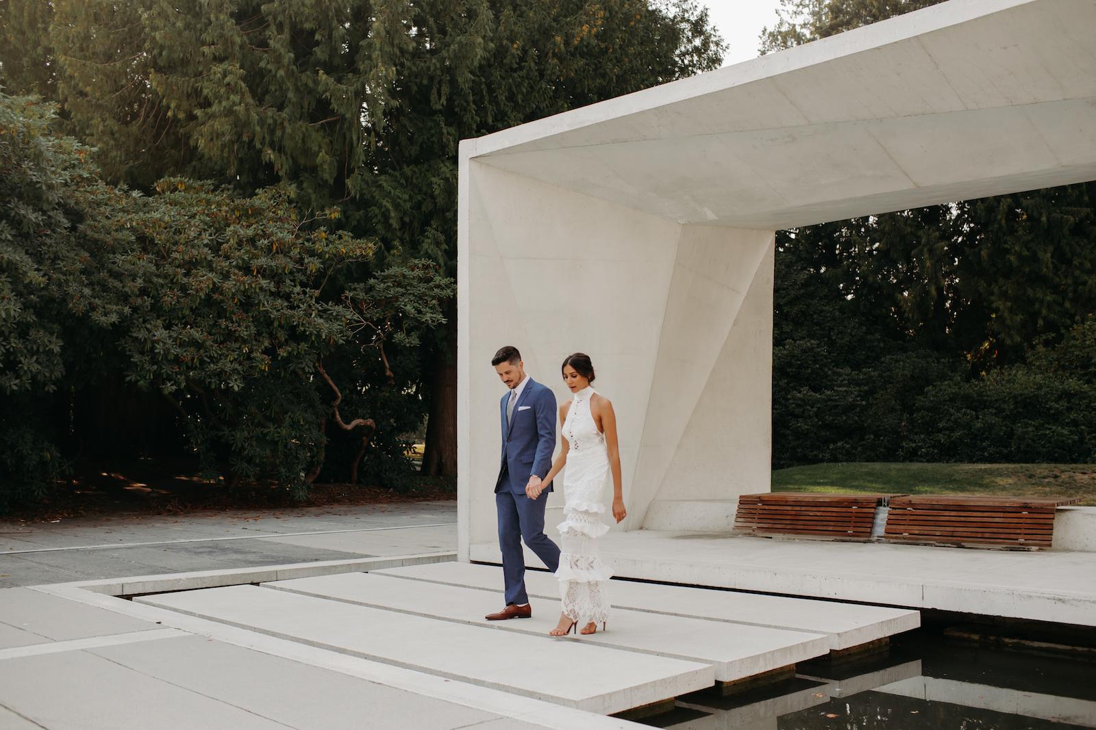 Vancouver Wedding Photographer, elegant lines at UBC
