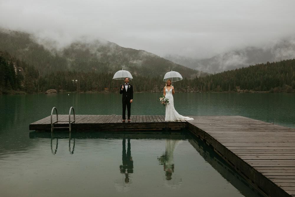 Rainy Day Wedding in Whistler - Vancouver Destination Wedding Photographer