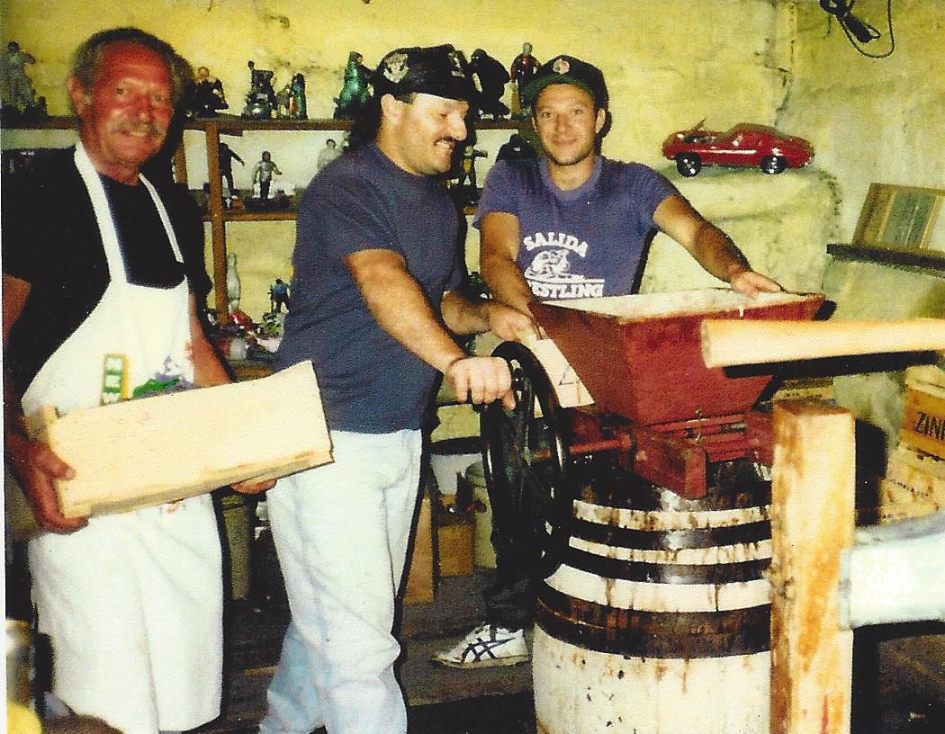 I ragazzi (the boys) perfecting their craft and having fun, circa 1997.