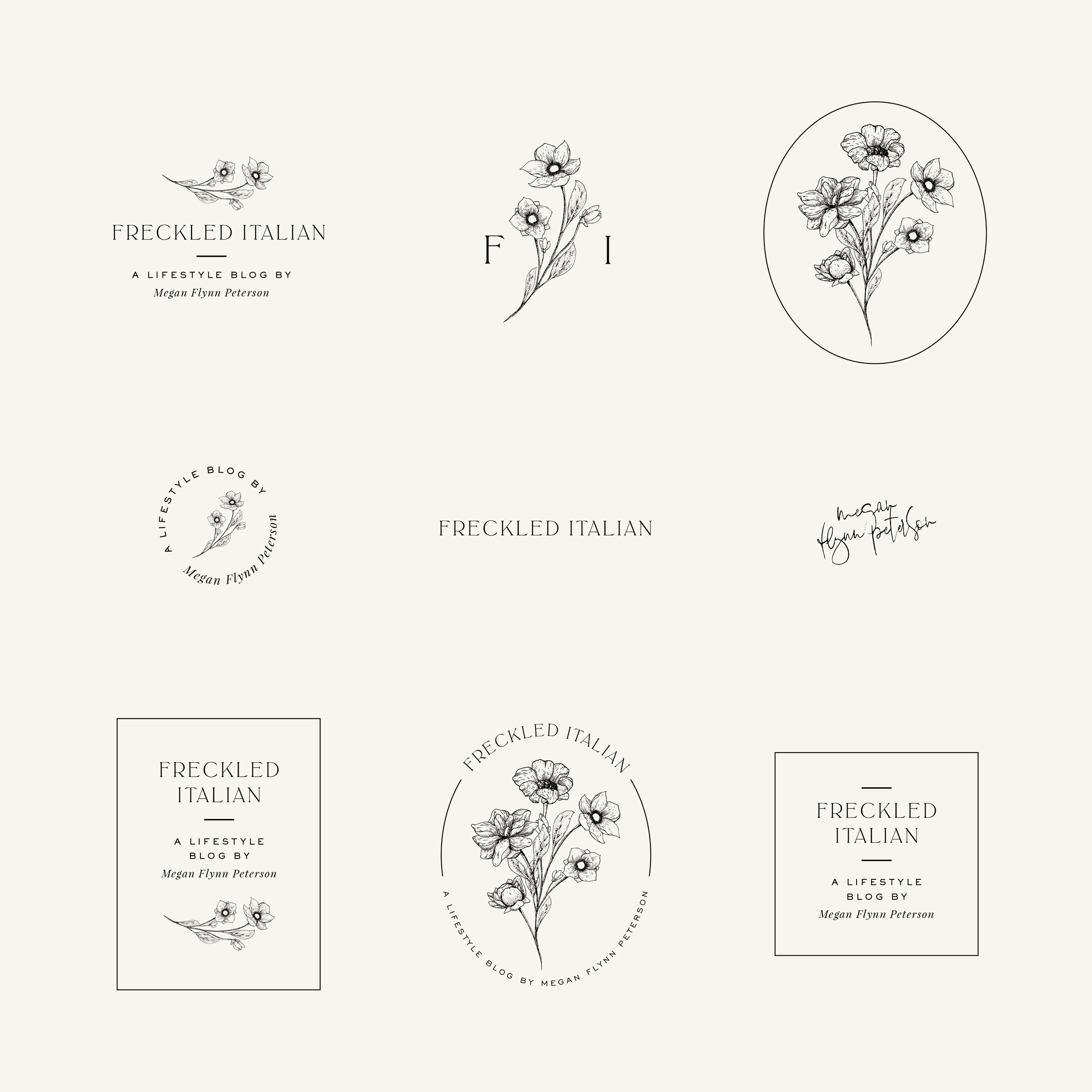 freckled italian: brand design by kelly james