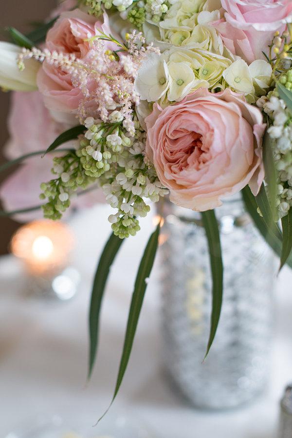 Blush garden rose bouquet