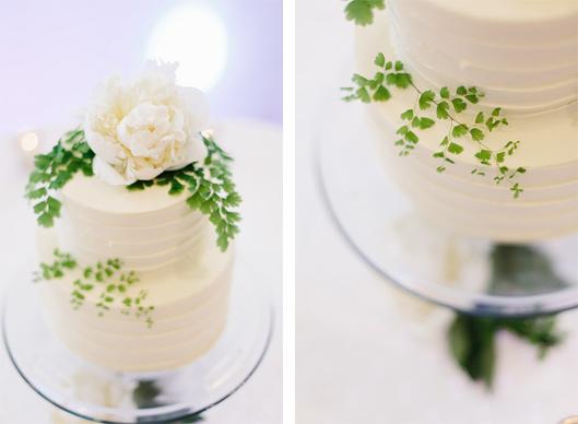 Maidenhair fern wedding cake