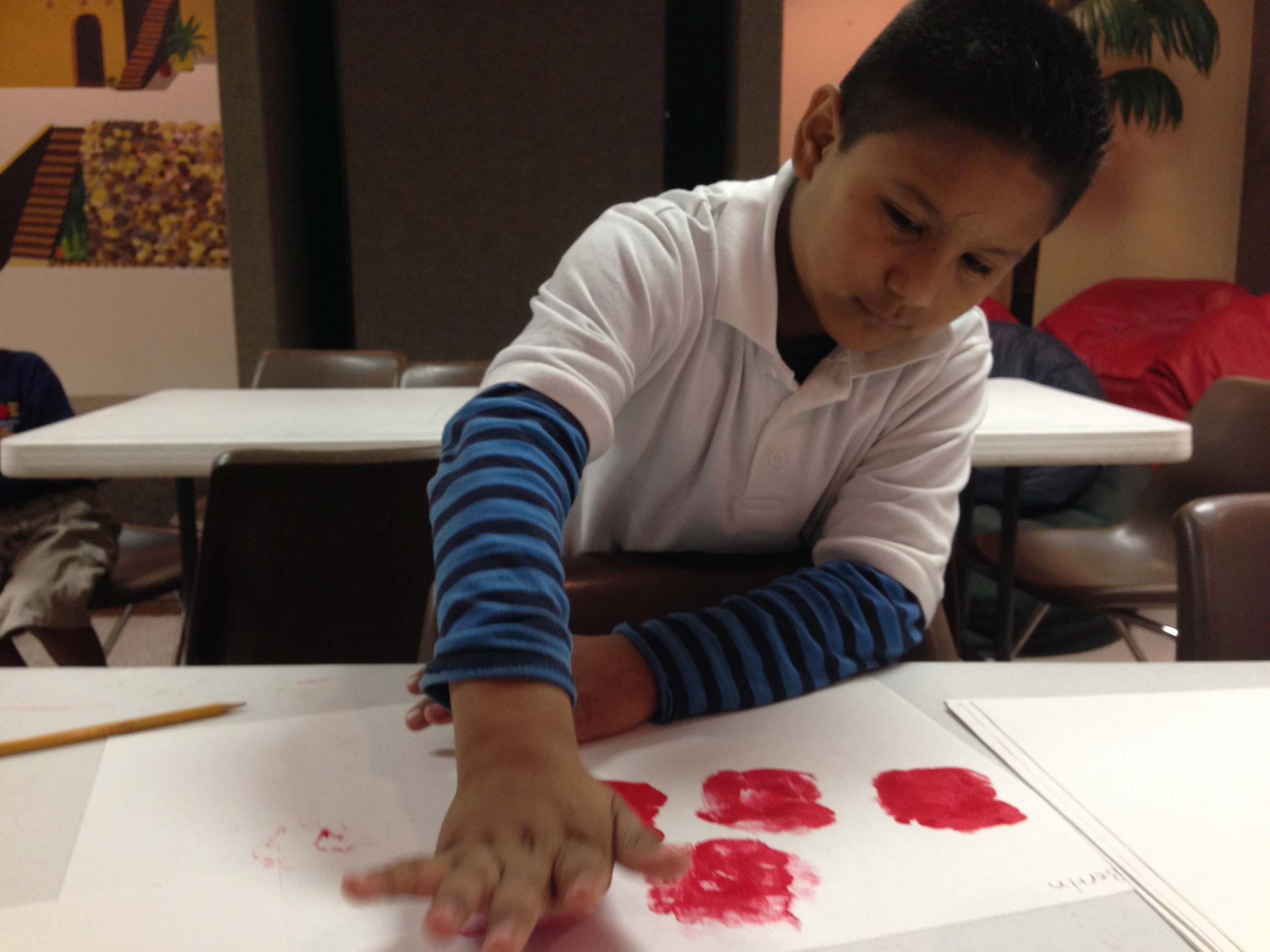 Students expand their creativity with art projects.
