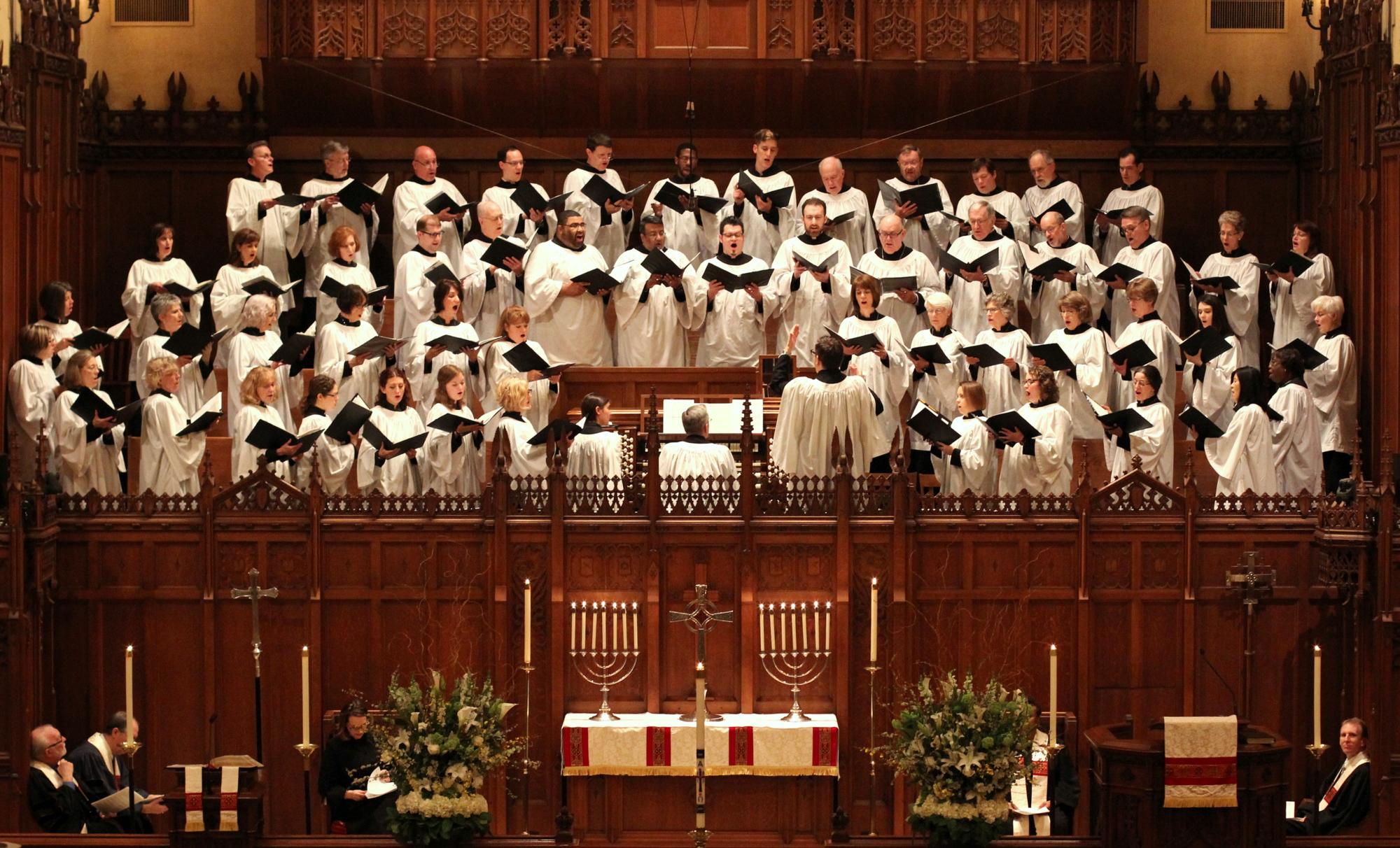 St. Paul's Choir, Easter 2015.  Photograph by Rev. Danny Yang