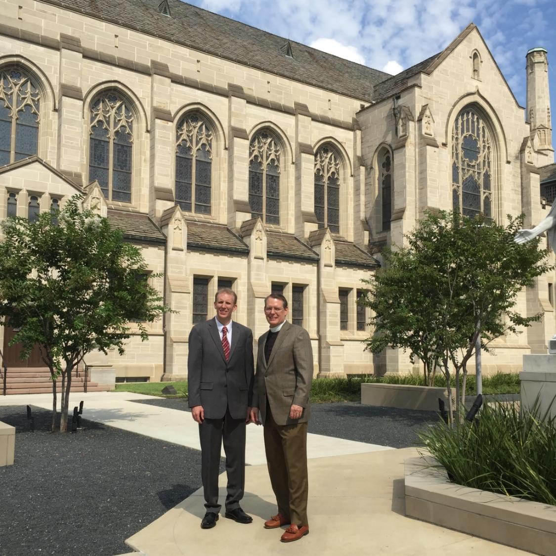 Left:Rev. Tommy Williams, Senior Minister, St. Paul's UMC, Houston; Right: Dr. Robert Moore, Senior Pastor, Christ the King Lutheran Church, Houston.