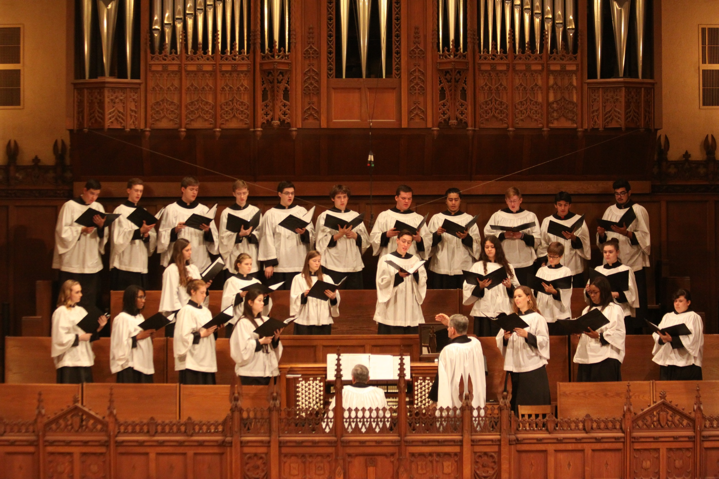 Choral Scholars 2015-16. Photograph by Robin Gandin.