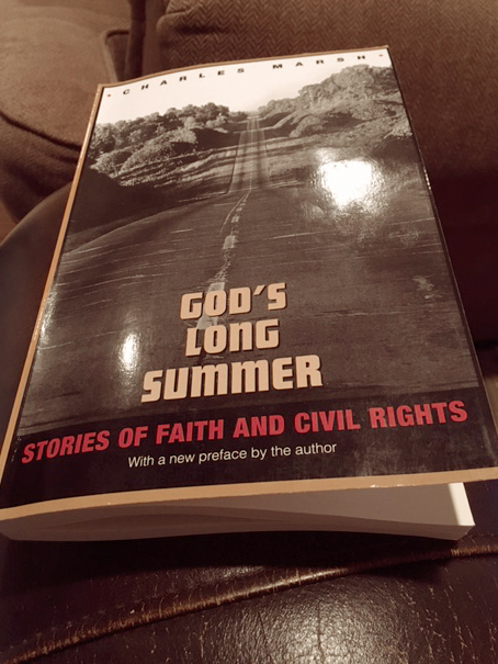 I've been preparing for my January coursework by reading this book,  God's Long Summer , about Mississippi and its long journey toward integration and the church's role (good, indifferent and otherwise) in that.