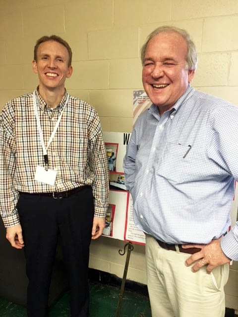 Rev. Tommy Williams with one of his professors, Mike McCurry