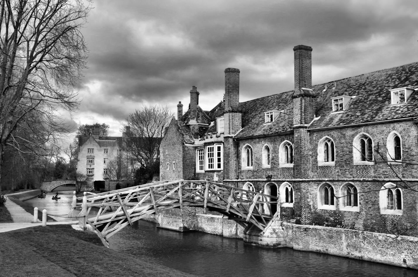 The Mathematical Bridge at Queens' College Cambridge, designed in 1748.