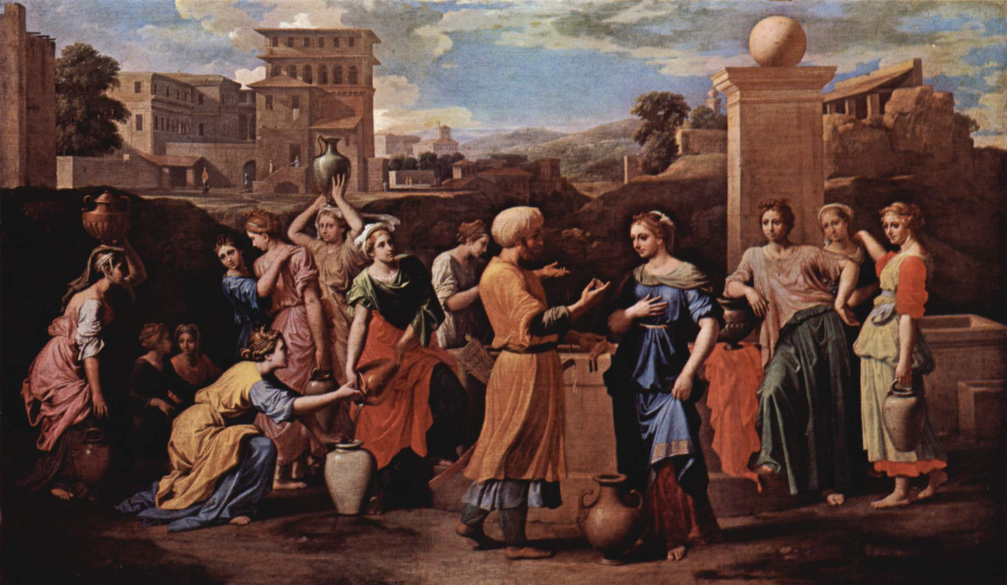Eliezer and Rebecca at the Well  by Nicolas Poussin, 1648