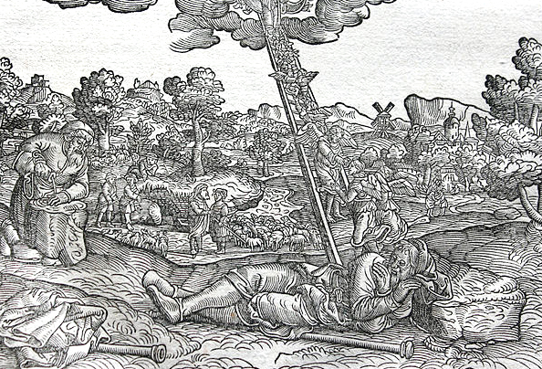 Jacob's Ladder (woodcut from Luther Bibles of 1534 and 1545)