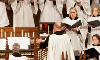 Kirby Traylor directs St. Paul's Choir
