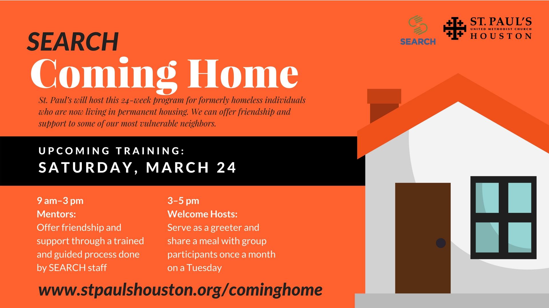 To Volunteer Visit :   www.stpaulshouston.org/cominghome