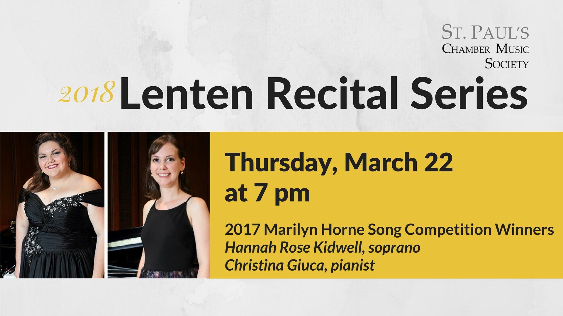 03-22-18 Lenten Recital - Marilyn Horne Competition Winners