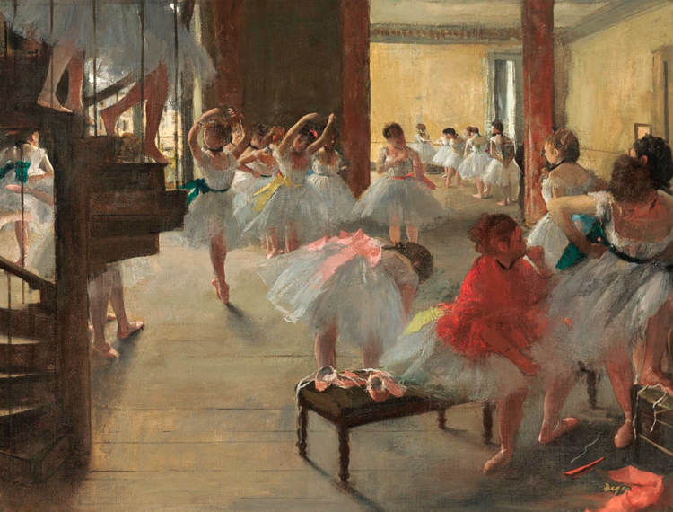 Edgar Degas,  The Dance Class,  c. 1873, oil on canvas, National Gallery of Art, Washington, Corcoran Collection (William A. Clark Collection)
