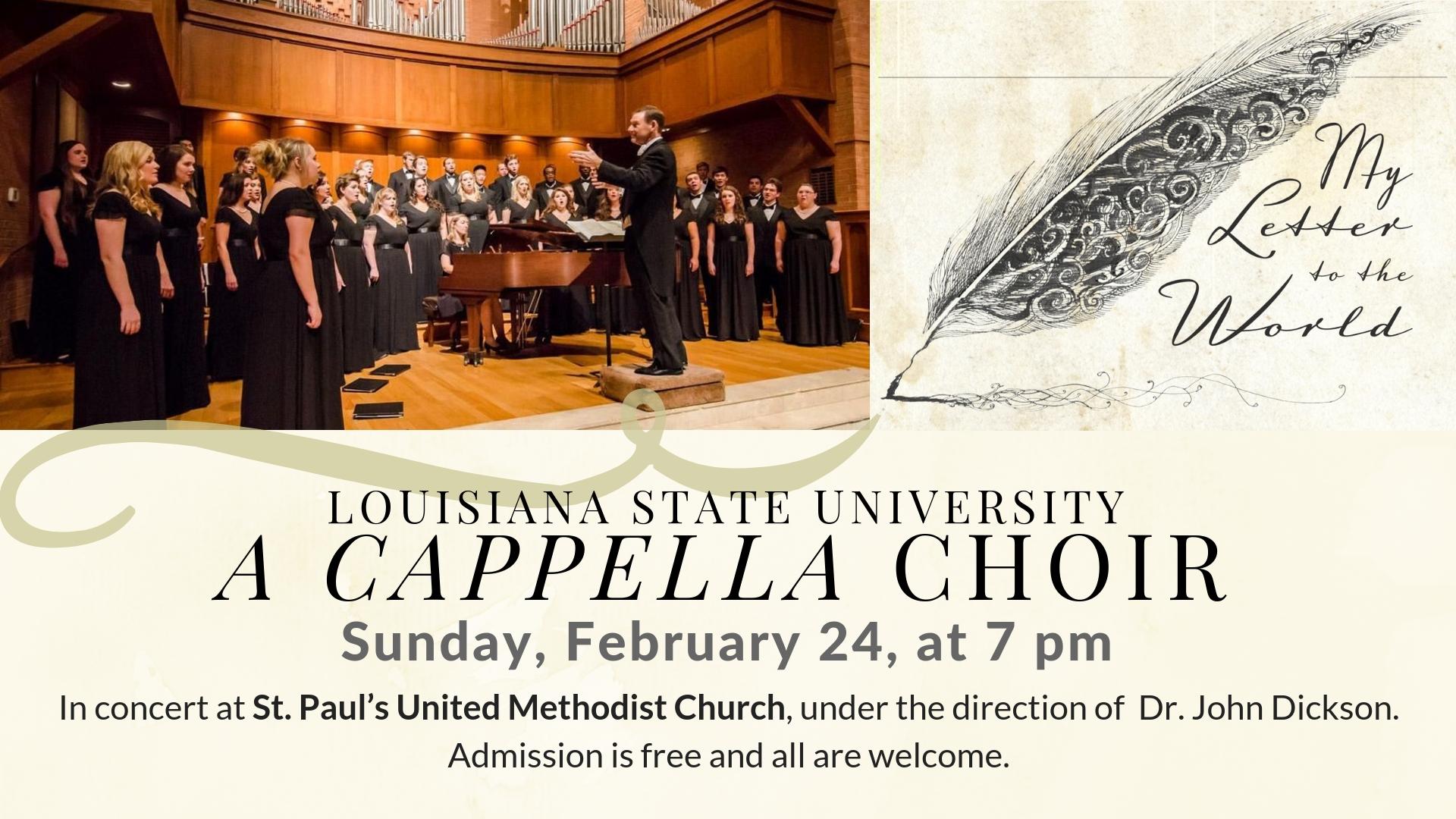 LSU Choir Concert — St  Paul's United Methodist Church
