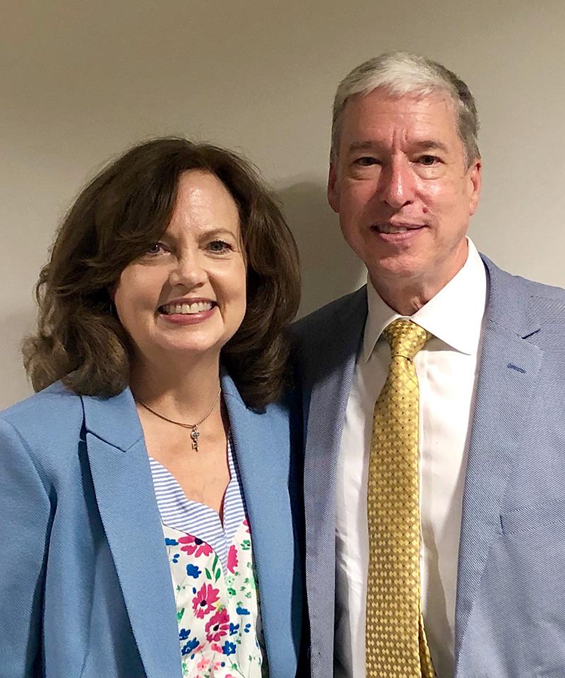 Rev. Dr. Jeff McDonald and his wife Lenee McDonald