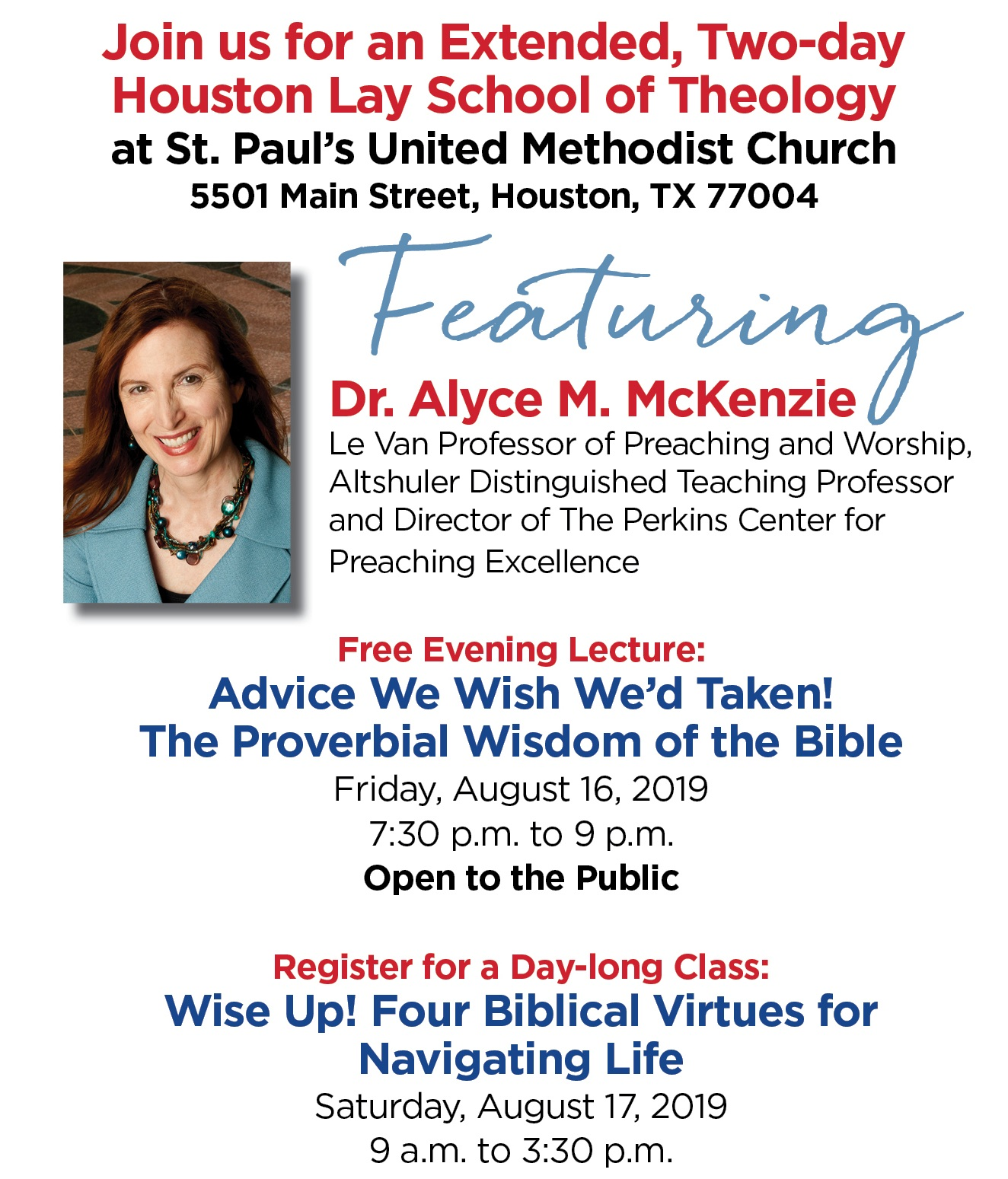Houston Lay School of Theology: The Wit of Alyce McKenzie