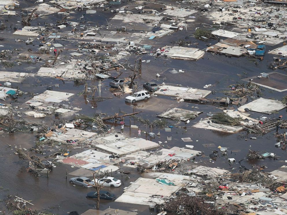 Aerial photograph of damage in the Bahamas from Hurricane Dorian - ABC News