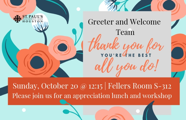 Greeter and Welcome Team Appreciation Lunch.jpg