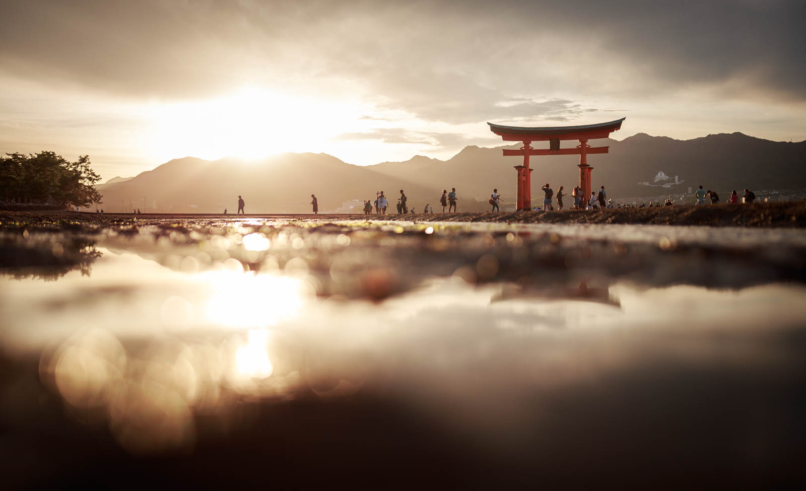 Itsukushima Sonnenuntergang