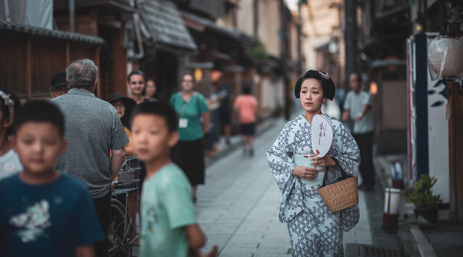 Kyoto traditionelles Gewand der Frauen