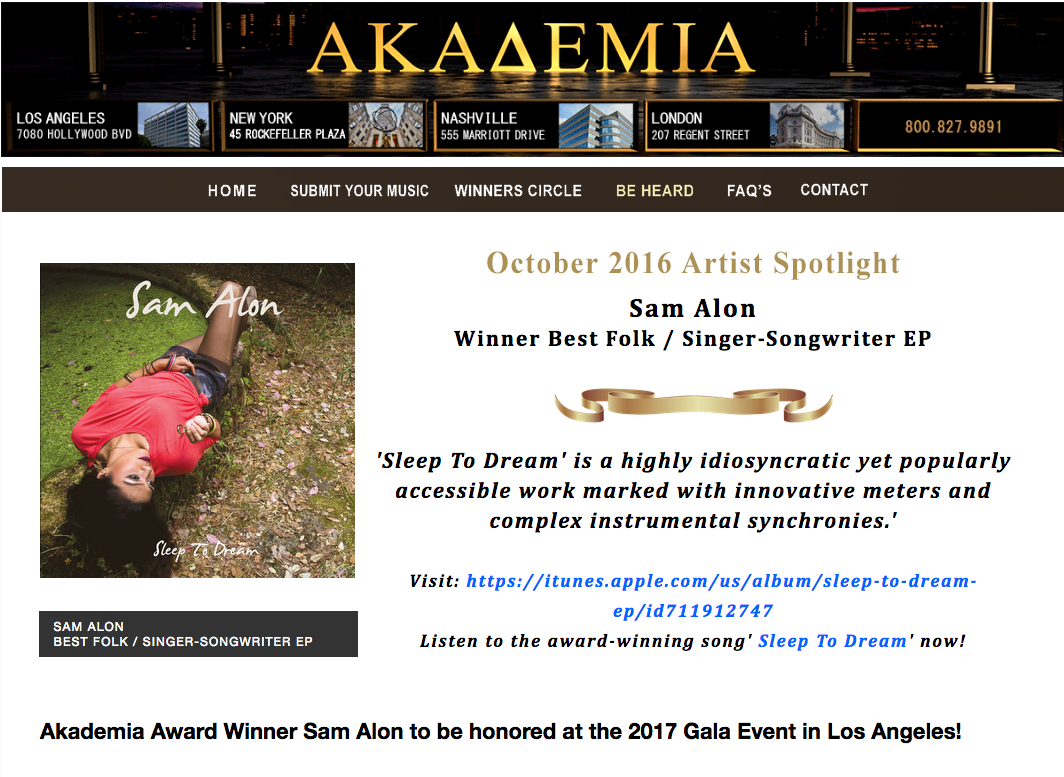 Click here to view Artist Spotlight page:   http://www.TheAkademia.com/rnqZ7sE3wr5tZeB6Dbqk.html
