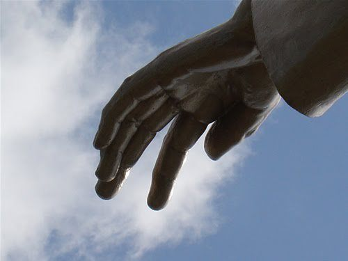 Hand of God (artist's impression)