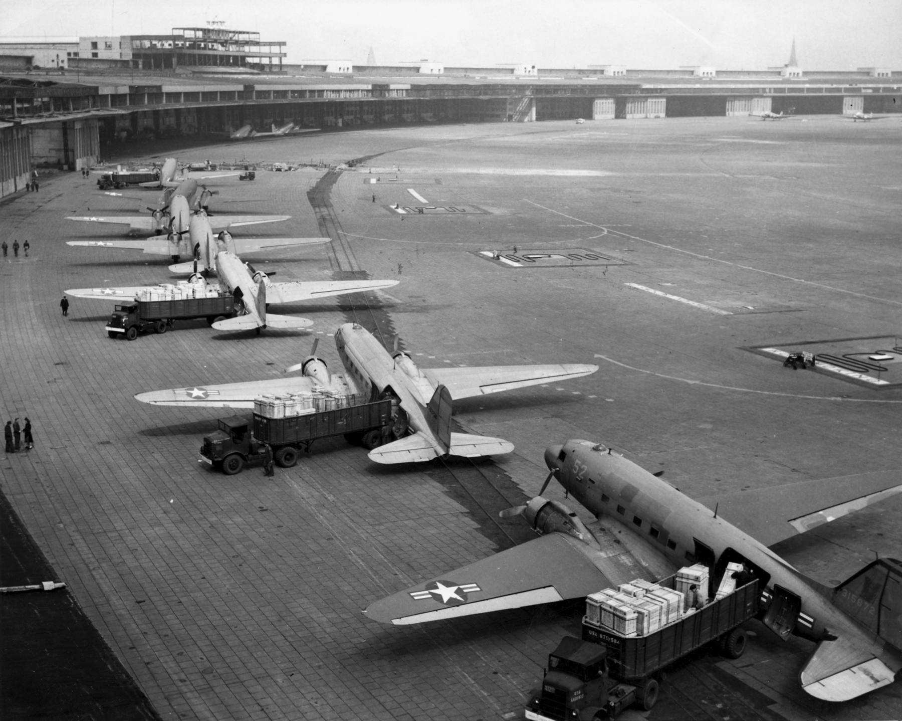 Berlin Airlift - http://www.history.com/topics/cold-war/berlin-airlift