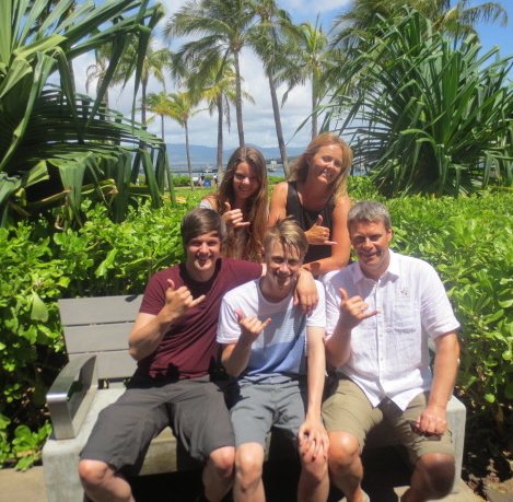 The family in Hawaii - spring 2013