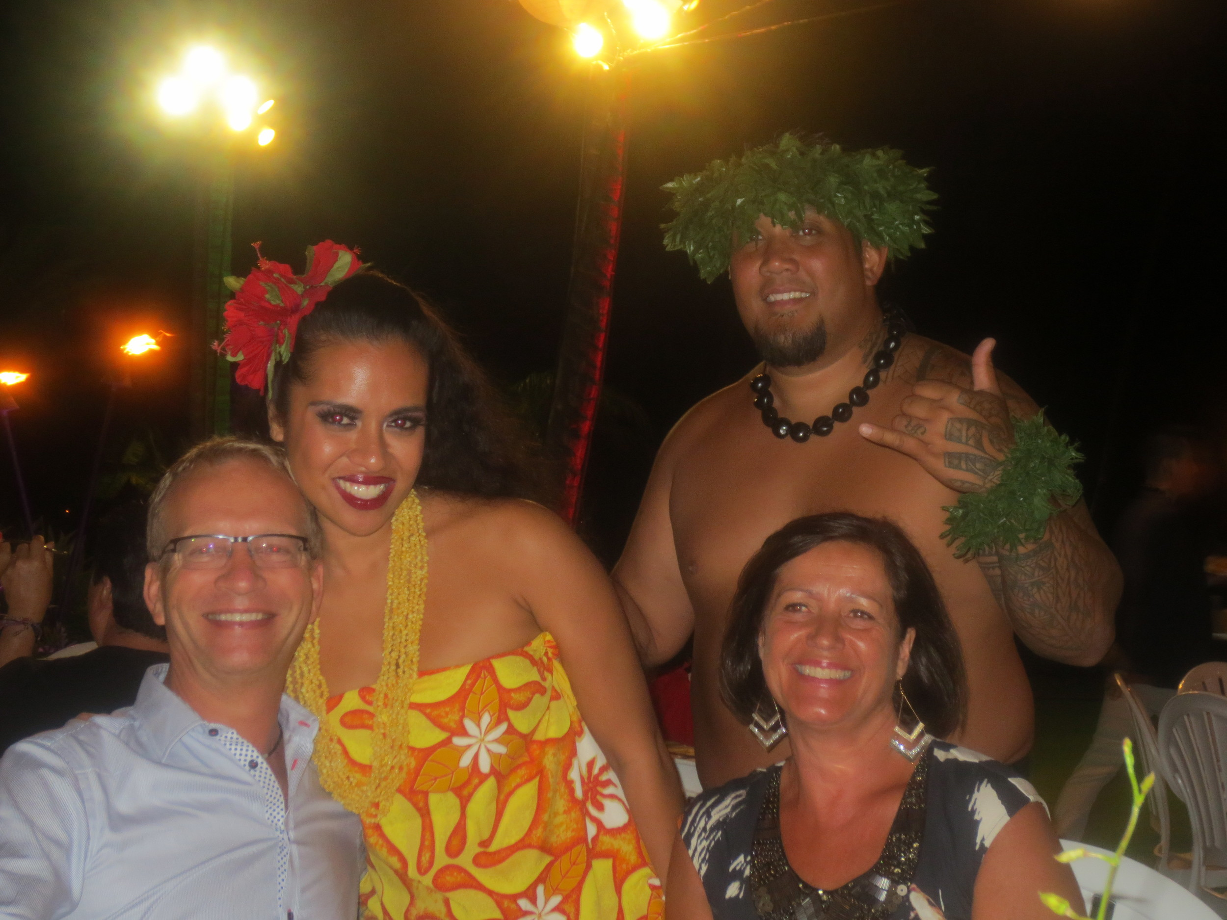 Carl and Lena with some locals :-)