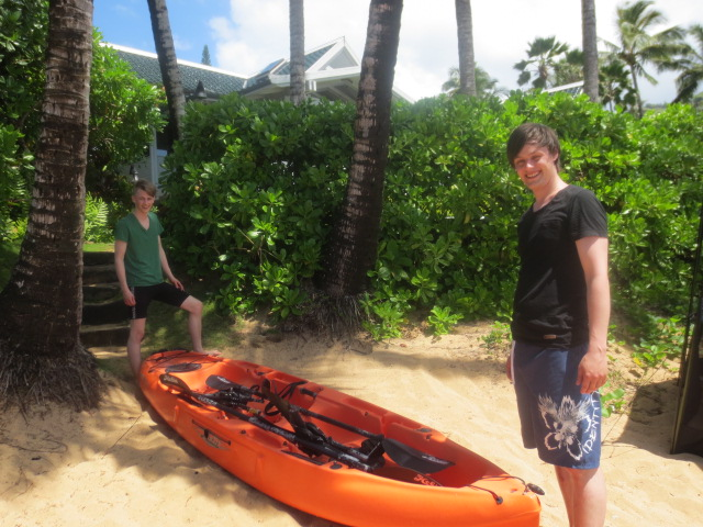 The brothers going kayaking