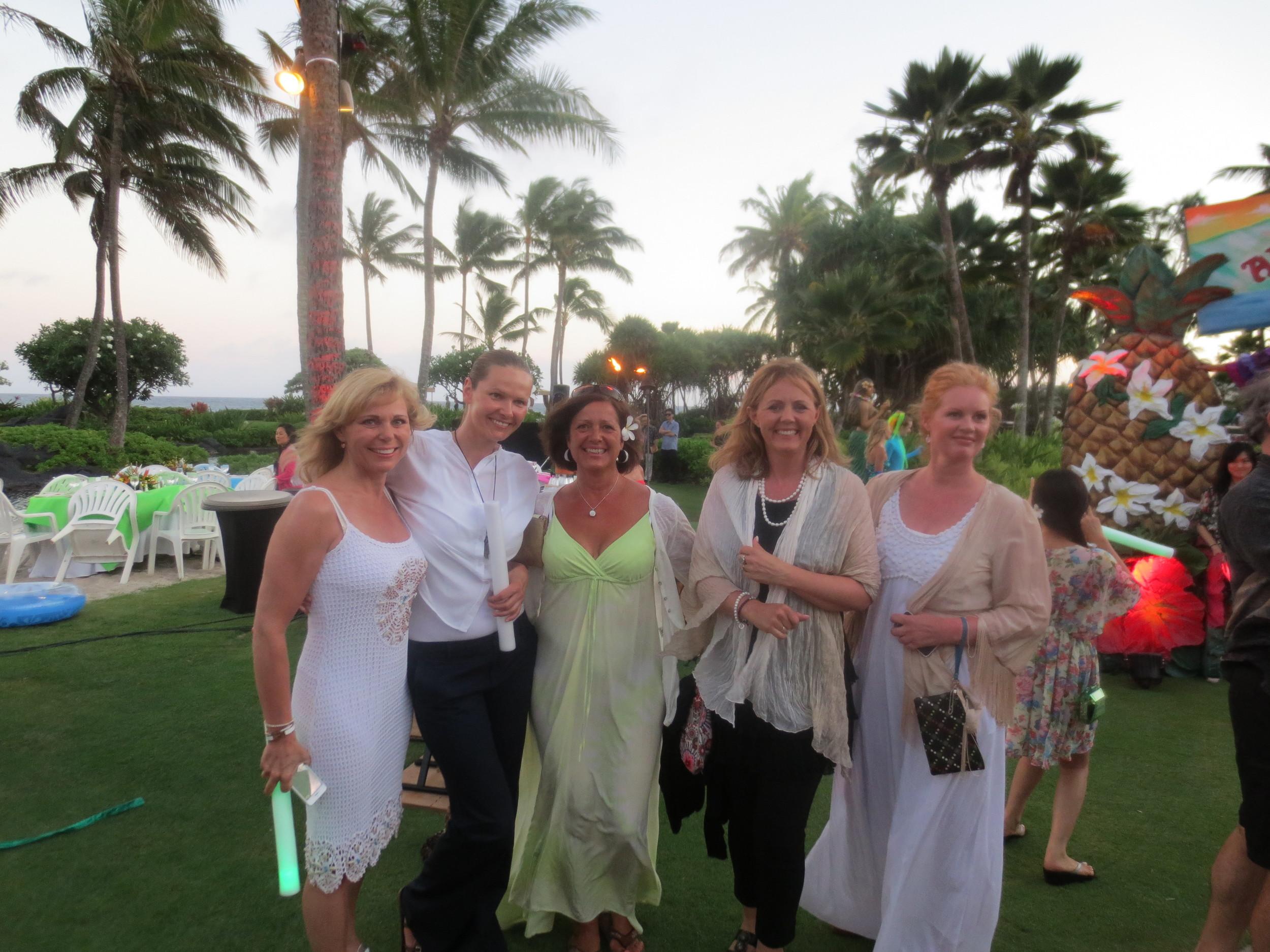 At the Farewell Dinner on the beach