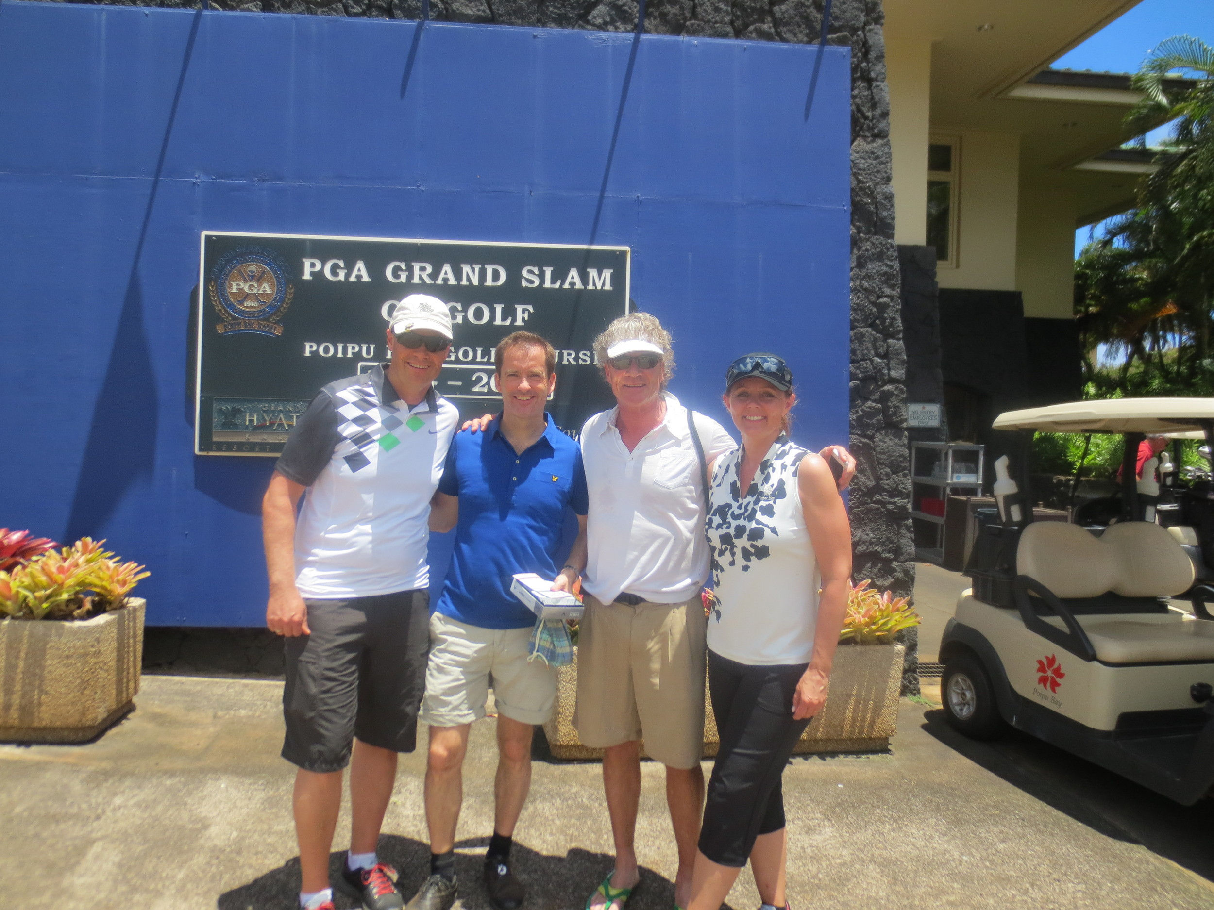 After a great golf round with Mikael Linder and Gary