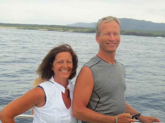 Our friends Carl and Lena came with in the Catamaran