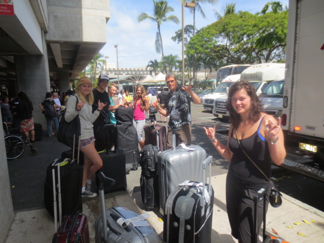 At Honolulu airport - so comercial after being in Kauai
