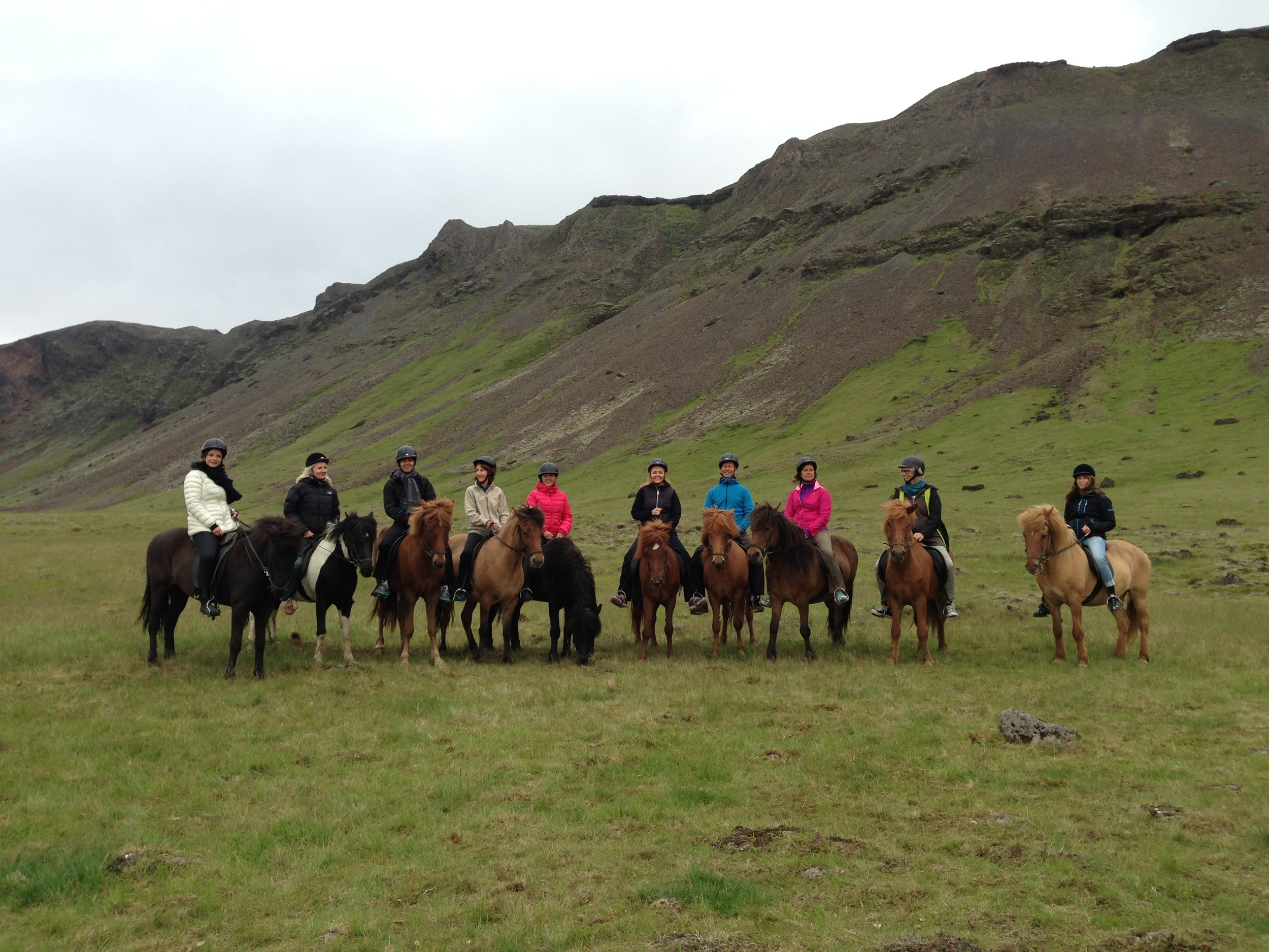 Some went for the horseback riding tour