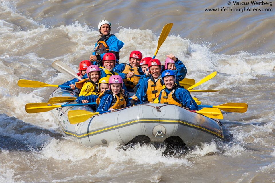While others came to the river rafting fun