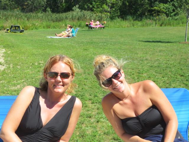 Gudrun and her sister Lilja