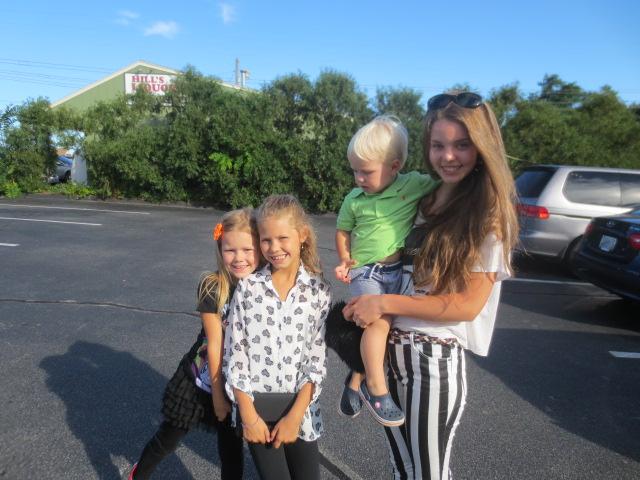 Dora with her cousins