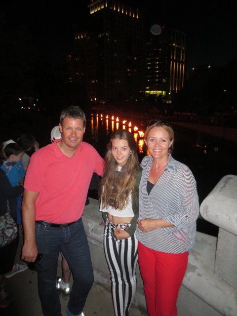 The family at waterfire