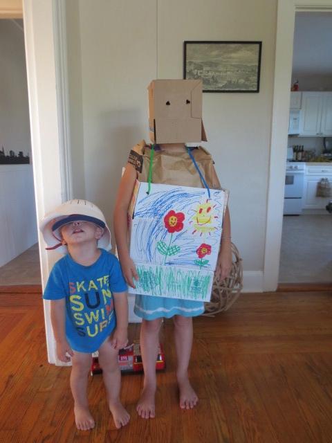 Two little robots (Styrmir and Kristjana)
